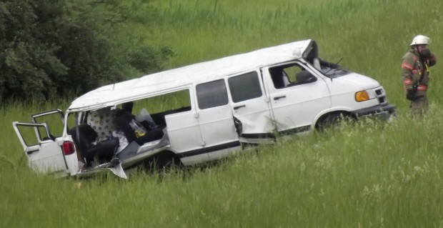 15-passenger vans have been involved in a number of accidents while carrying traveling sales crews.