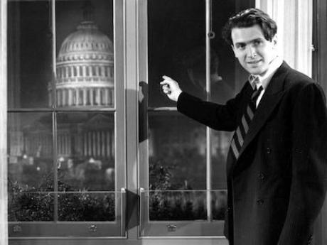 Jimmy Steward in Mr. Smith Goes to Washington